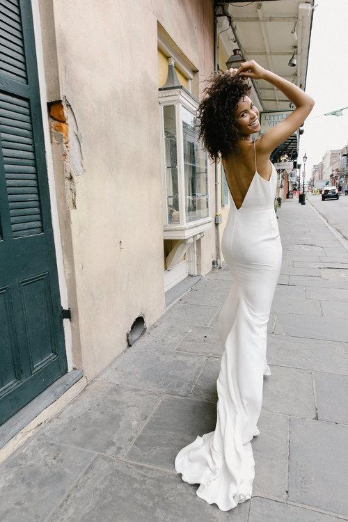 silk slip wedding dress Alexandra grecco