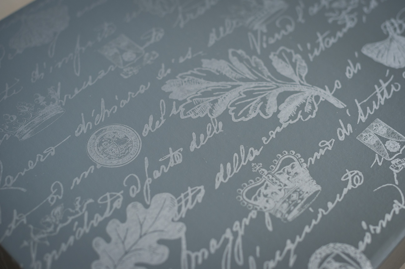 queensberry wedding album box detail