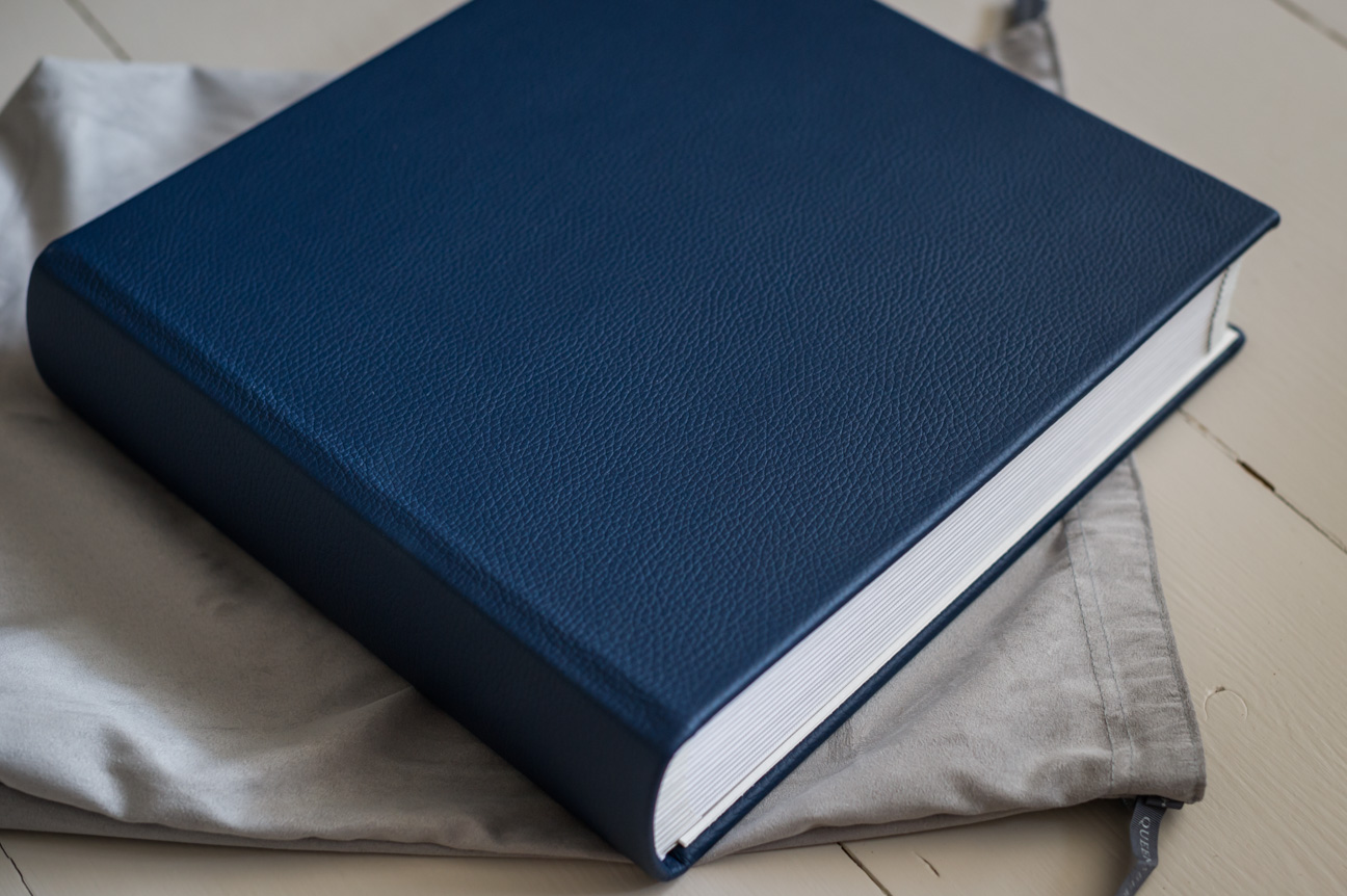 classic matted queensberry wedding album navy leather cover