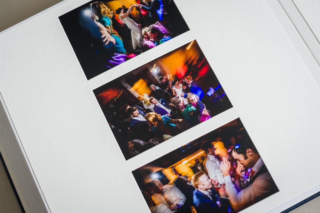 dancing shots in matted wedding album