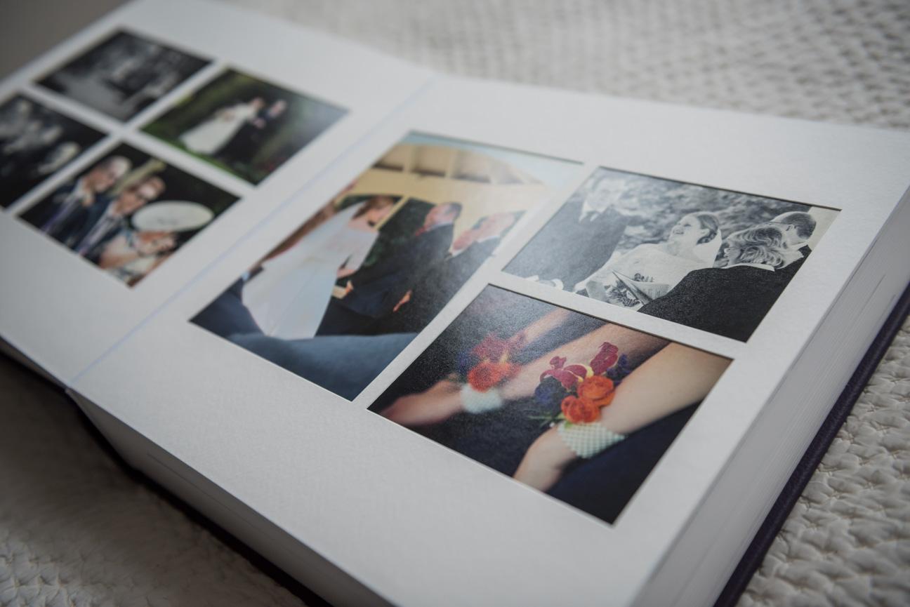 Queensberry Duo wedding album spread