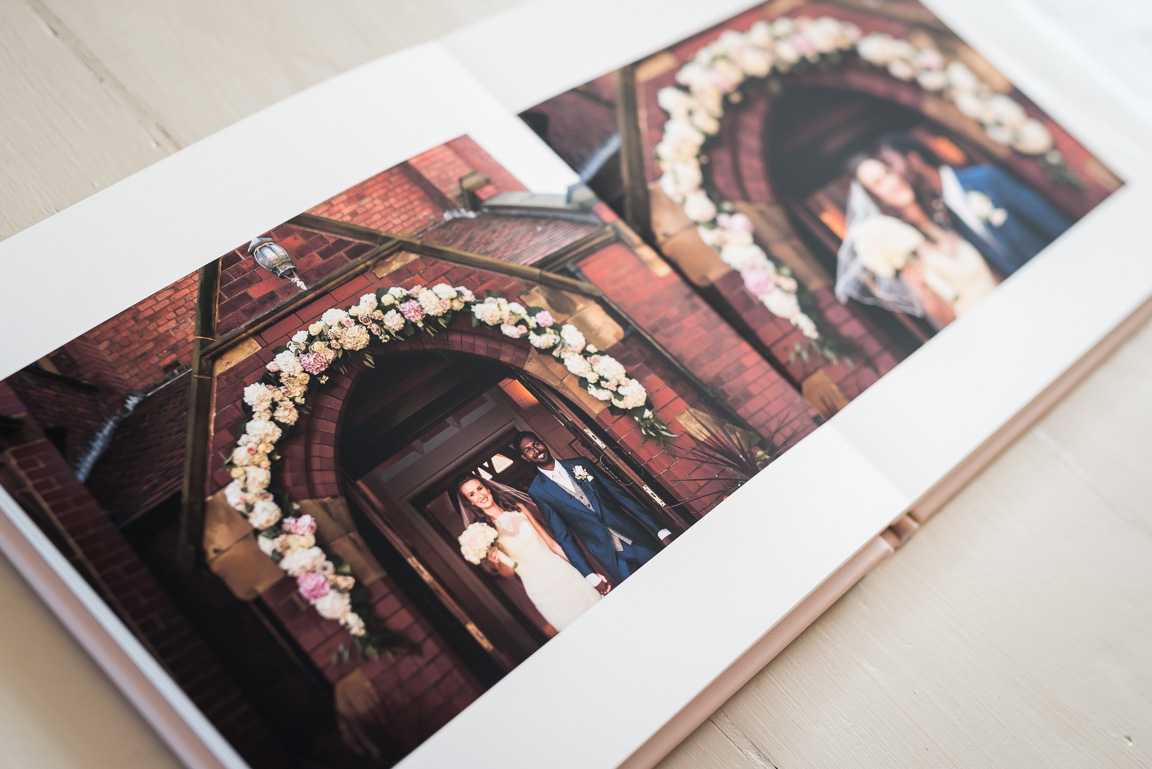 wedding photos in Fine Art wedding album