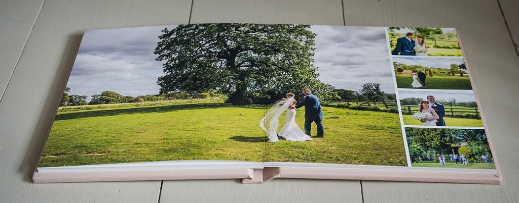 high end wedding albums by Folio albums - open spread