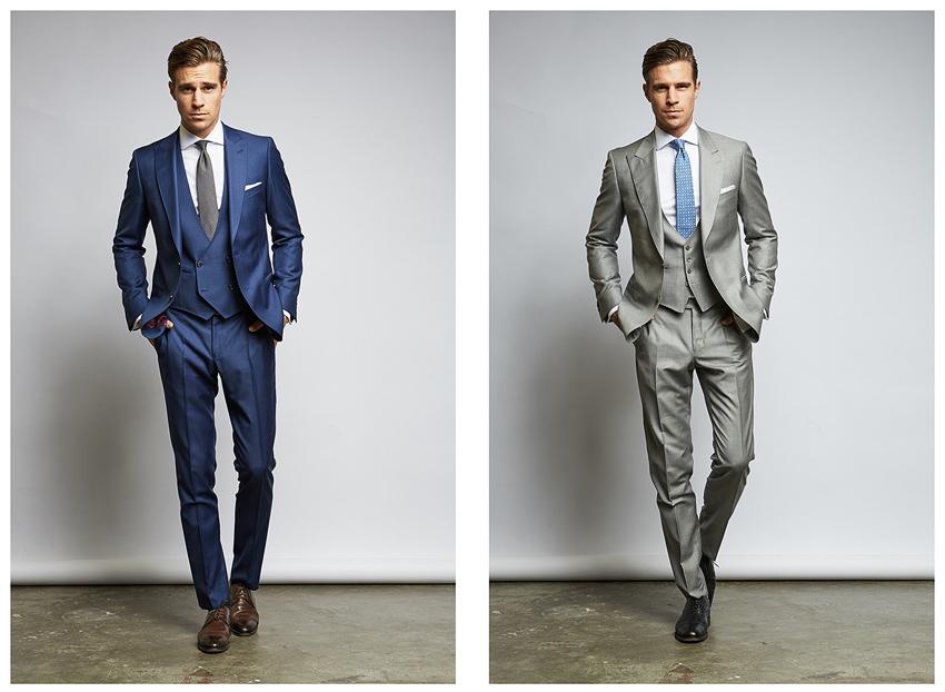 Der klassische Dreiteiler: Hose, Weste, Sakko für den Bräutigam