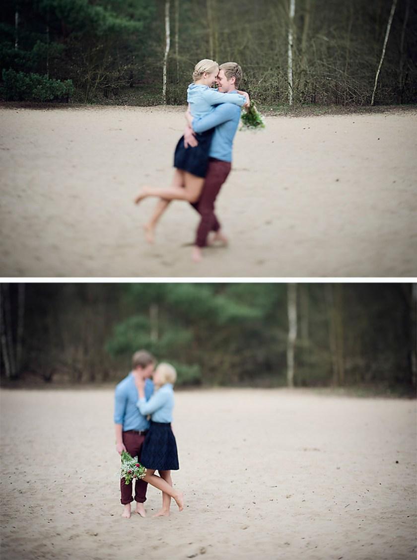 Ganz in Weise, Verlobungsshoot, Pärchen umarmt sich und dreht sich