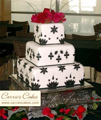 Black and White Wedding Cakes Gallery red black and white wedding cake