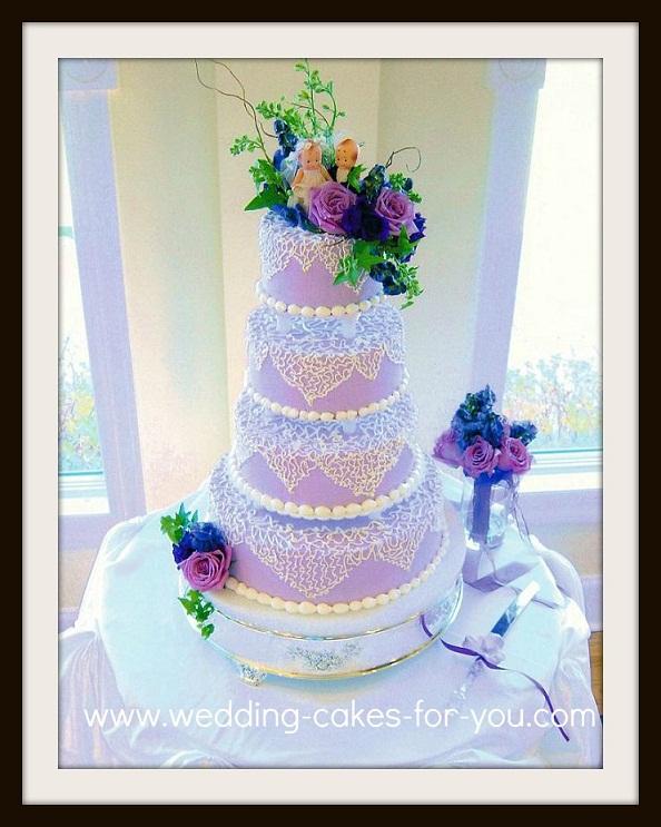 Cakes Pillars Wedding Tier 4