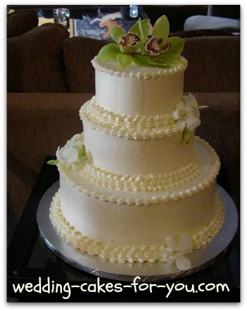 Ruffled White Chocolate Wedding Cake