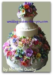 Wedding Cakes Pictures And Cake Decorating Ideas From Craftspeople     wedding cake with gumpaste flowers