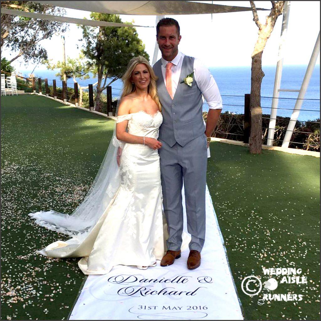 cyprus personalised wedding aisle runner