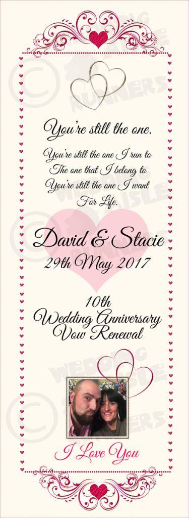 Stacie & David vow renewal aisle runner