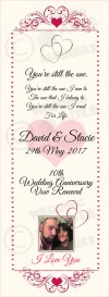 Stacie & David vow renewal aisle runner