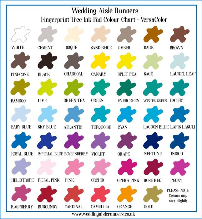 Fingerprint Tree Ink Colour Chart