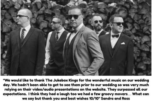 Wedding Review from Couple for The Jukebox Kings