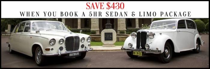Wedding Car Hire Sedan & Limo