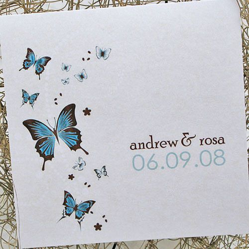 Butterfly Wedding Invitation Style 1