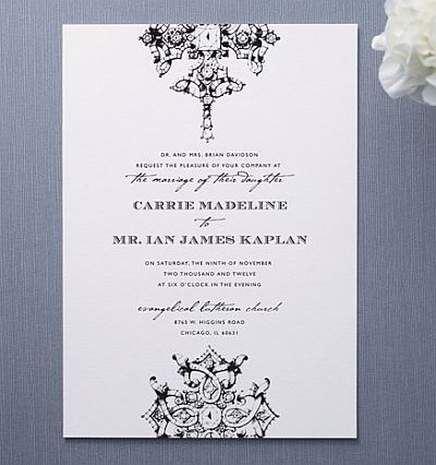 Kim Kardashian's Wedding Invitation