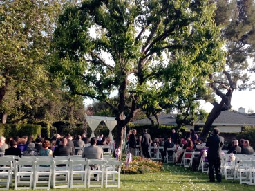 Wedding Ceremony In The Front Yard At Sunset This Is What We Found When