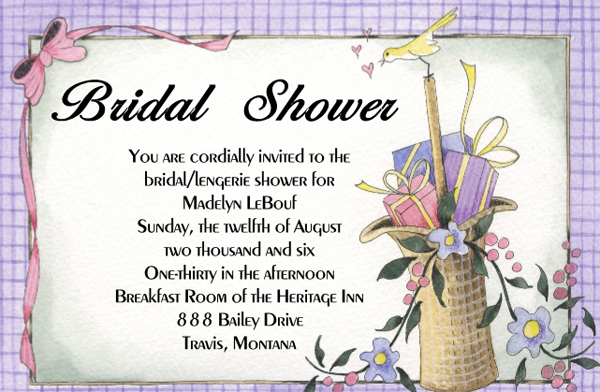 Bridal Shower Wishes Photo Al Velucy Invitations Wishing Well Insert Recipe