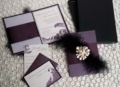 Stationery Etsy Purple Black Gold Silver Letterpress Custom Top Wedding Invitation Mistakes