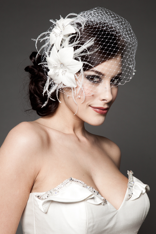 Hairstyles For The Birdcage Veils WeddingElation