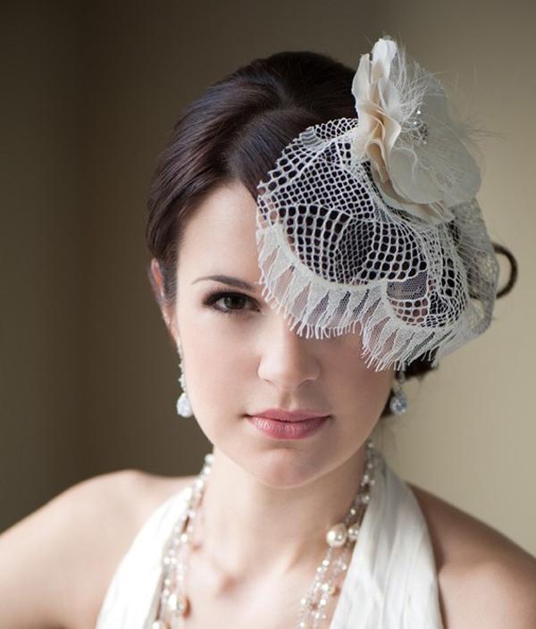 8f60d00d07a16 Vintage Wedding Veils. vintage inspired feather adorned wedding hat ...