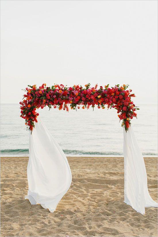 Red Floral Arch WeddingElation