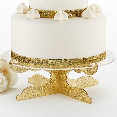 Gold Glitter Acrylic Cake Stand   Wedding Cake Stand