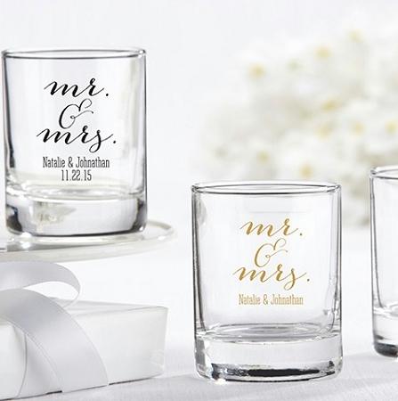 Personalized Shot Glasses Wedding Favors Mr Amp Mrs Design