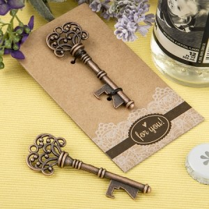 Copper Skeleton Key Bottle Opener Wedding Favors