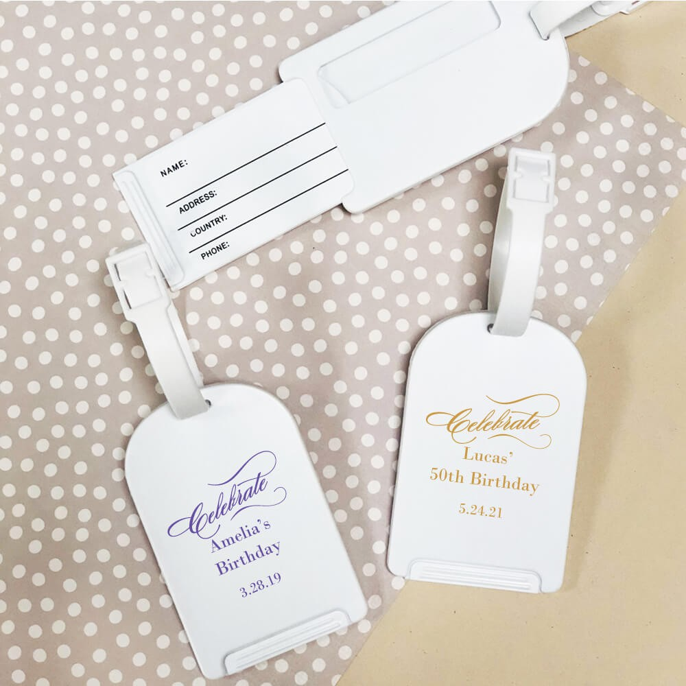 Personalized Luggage Tag Party Favors Travel Favor