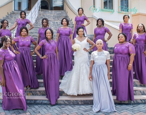 3f048fcdfbf Nigerian Wedding Purple Bridal Train Dresses Bridesmaids For Weddings