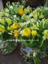 Globe Vase Arrangements
