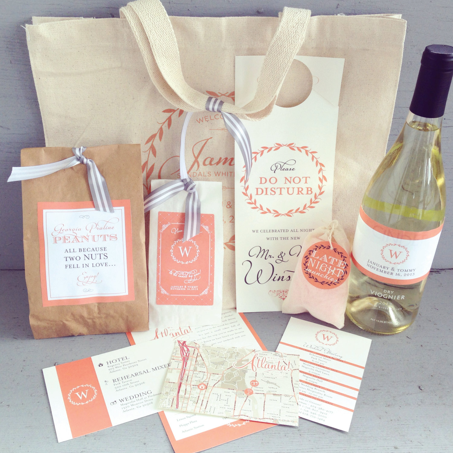 Wedding Welcome Bags - What Goes In Them? - Wedding for $1000