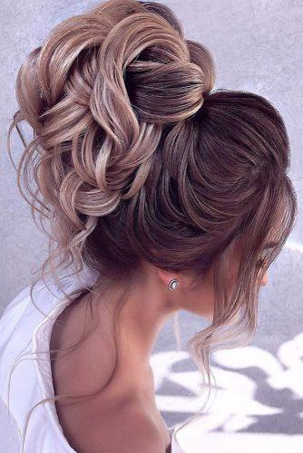42 Wedding Hairstyles   Romantic Bridal Updos   Page 8 of 8     romantic bridal updos wedding hairstyles high with loose curls for lond  hair elstilela