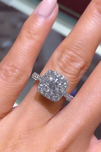 pillow cut engagement rings