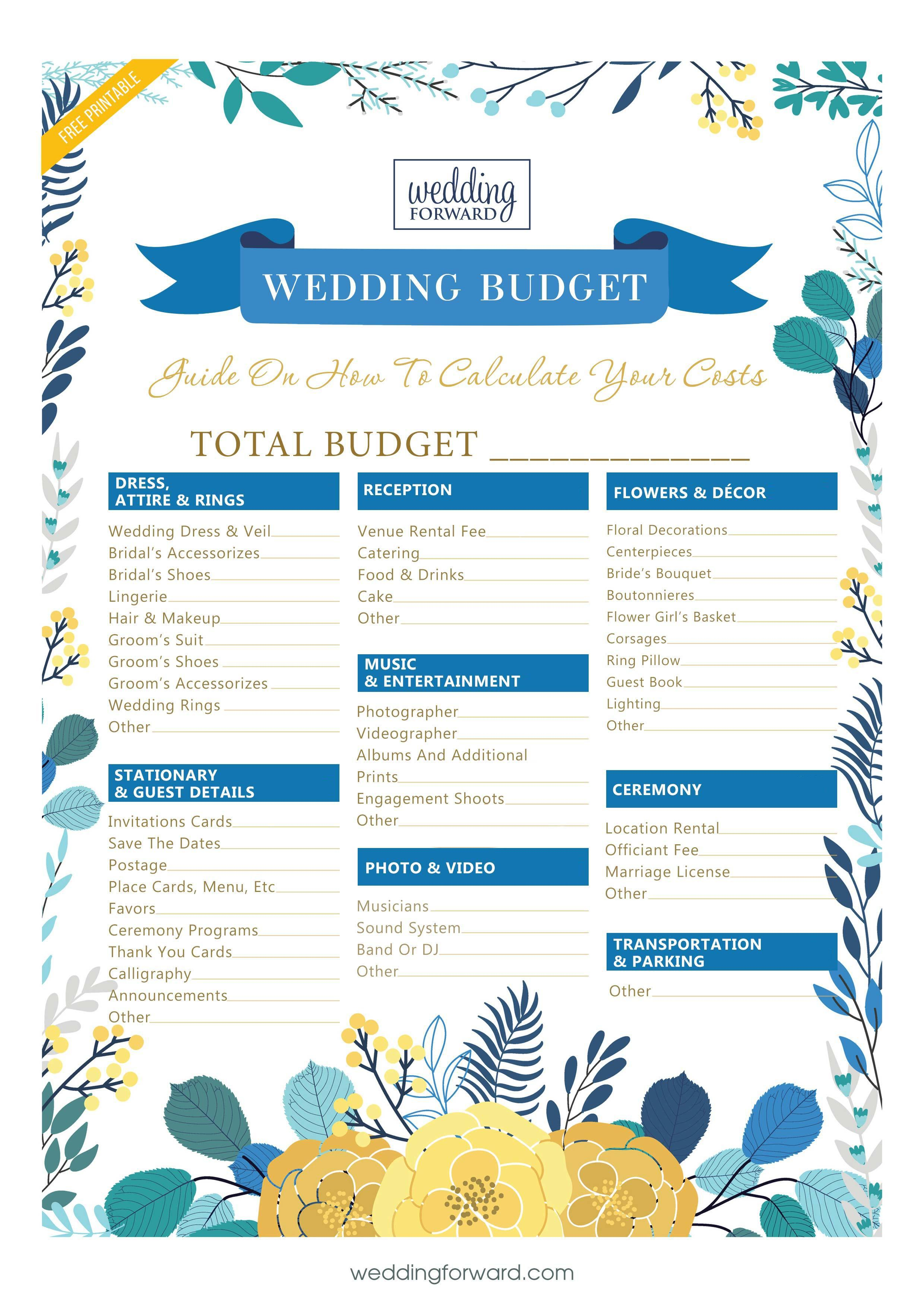 Super Easy Steps To Creating Your Wedding Budget