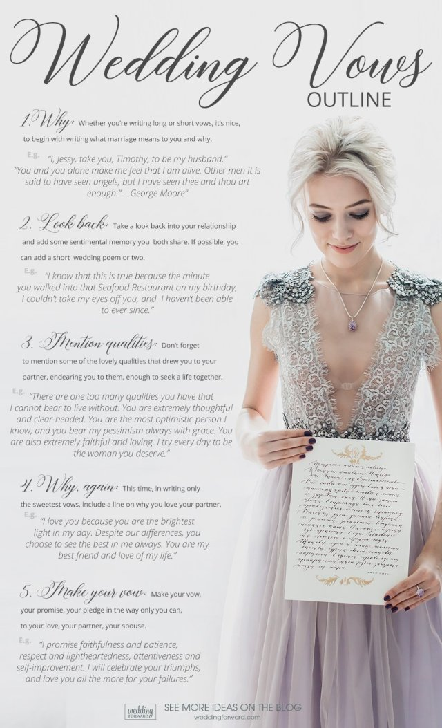 16 Real Wedding Vows Examples To Steal: The Best Quotes