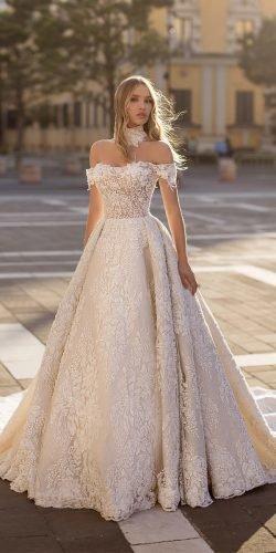 wona váy cưới công chúa quây cổ lệch vai thực vật unicue Ảnh váy cưới lấp lánh