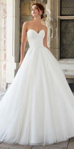 a line wedding dresses simple sweetheart strapless neckline mori lee