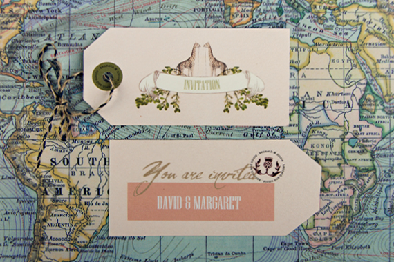 Chrystalace Wedding Stationery African Inspired invitation booklet stitched with envelope11
