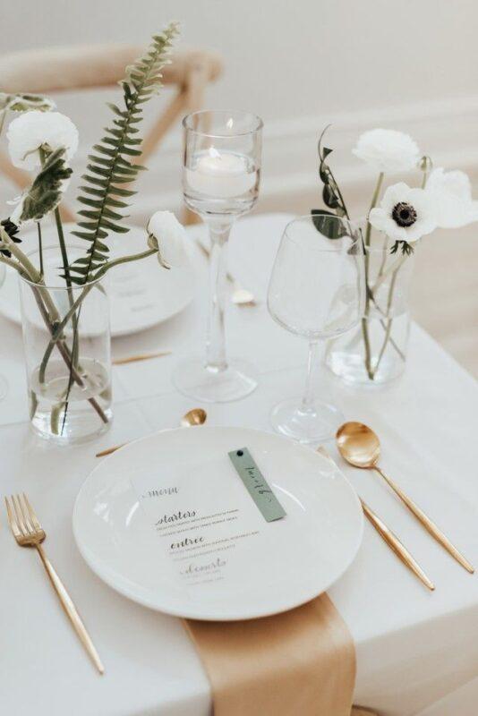 Modern Minimalist Wedding Inspiration in Terrell, TX