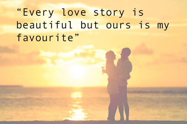 Image of: Best 27 Of The Most Romantic Quotes To Use In Your Wedding Every Love Story Is Beautiful Tasteful Toasts 27 Of The Most Romantic Quotes To Use In Your Wedding Wedding