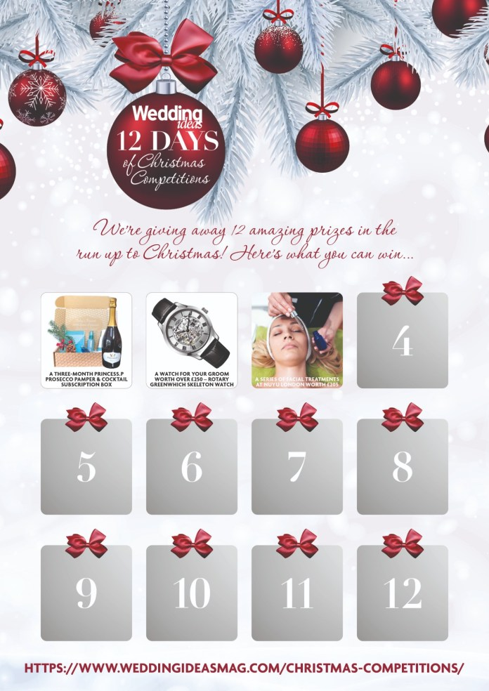 "christmas-competitions-day3 ""width ="" 1358 ""peak ="" 1920 ""srcset ="" https://i2.wp.com/www.weddingideasmag.com/wp-content/uploads/2018/12/christmas-competitions-day3.jpg?w=696&ssl=1 1358w, https: //www.weddingideasmag.com/wp-content/uploads/2018/12/christmas-competitions-day3-212x300.jpg 212w, https://www.weddingideasmag.com/wp-content/uploads/2018/12/christmas -competitions-day3-768x1086.jpg 768w, https://www.weddingideasmag.com/wp-content/uploads/2018/12/christmas-competitions-day3-566x800.jpg 566w ""sizes ="" (max-width: 1358px ) 100vw, 1358px ""/></p data-recalc-dims="