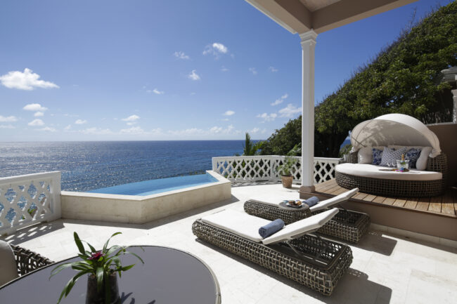 Terrace Suite Patio Curtain Bluff Antigua
