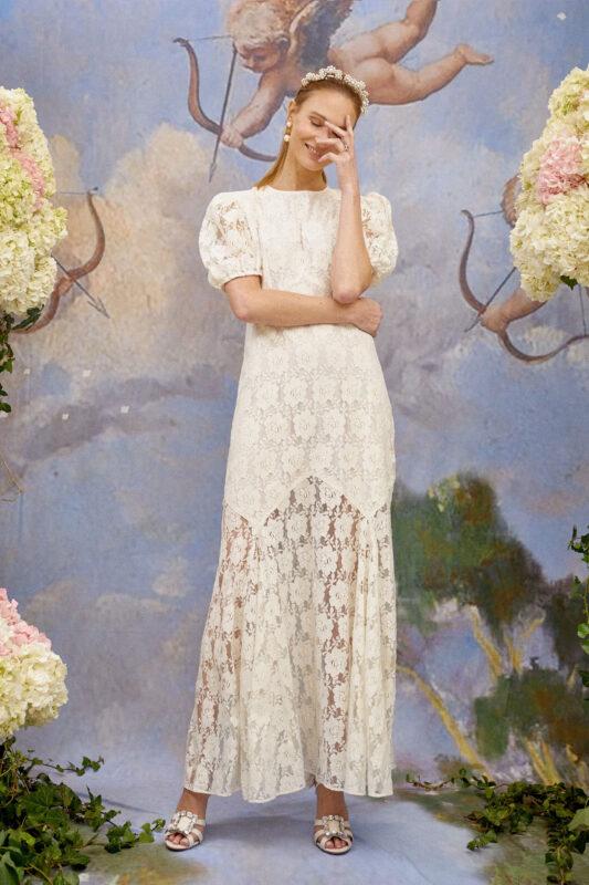 Louella floral lace wedding dress