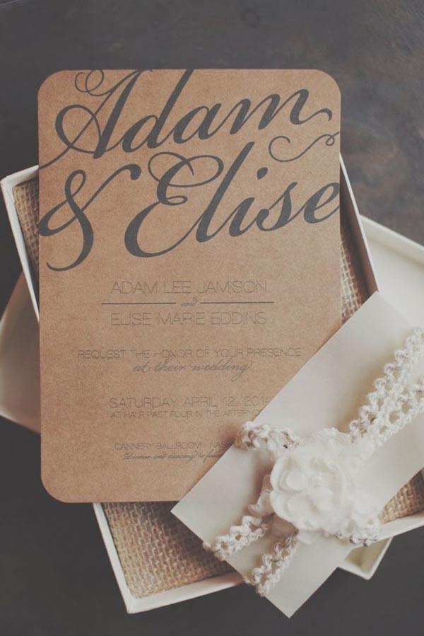 Gorgeous Rustic Wedding Invitation Ideas From Pinterest