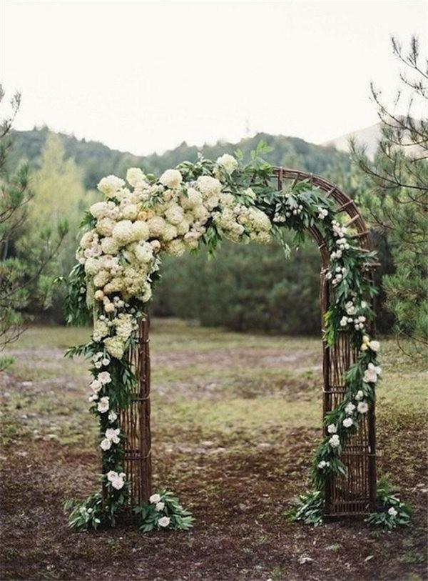 Outdoor Wedding Ceremony Flower Wedding Arch Ideas