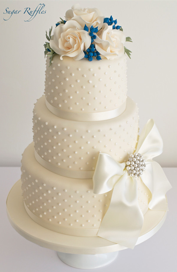 20  Wedding Cake Ideas from Sugar Ruffles     blue berry wedding cake ideas 3 tier