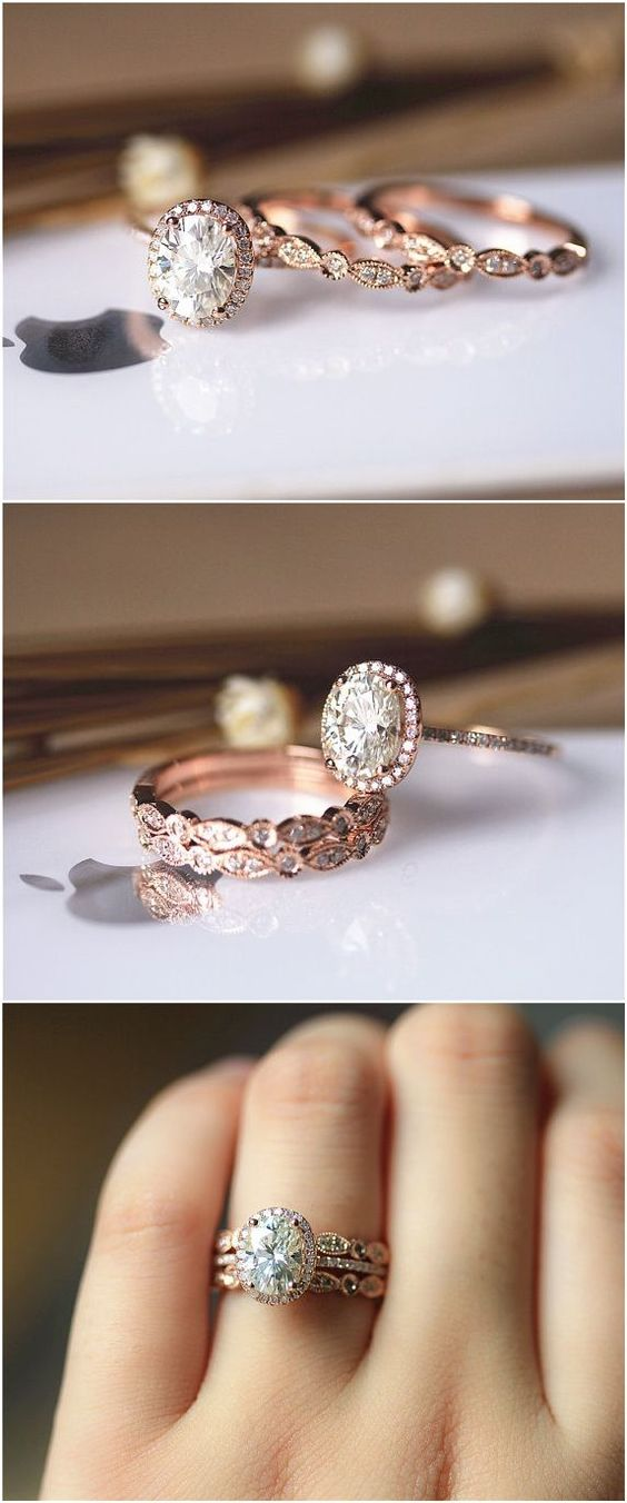 29 Most Popular Rose Gold EngagementWedding Rings Worth